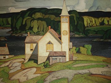 Anglican Church, Magnetawan 1980  Limited Edition Print - A.J. Casson