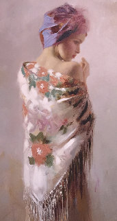 Lady in Contemplation AP Embellished Other - Pino Castagna