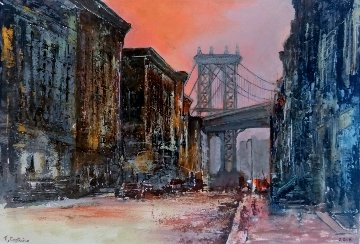 New York 1930 2018  6x8 Original Painting - Tomas Castano