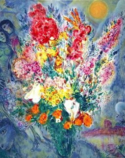 Blue Bouquet   Limited Edition Print - Marc Chagall