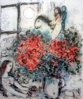 Chagall At Pace Columbus Poster 1977 Limited Edition Print - Marc Chagall