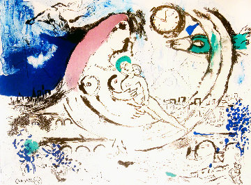 Paysage Bleu 1960 Limited Edition Print - Marc Chagall