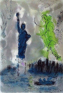 Statue of Liberty Poster 1982 Limited Edition Print - Marc Chagall