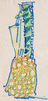 Blue Pineapple Drawing 1981 Drawing - John Chamberlain