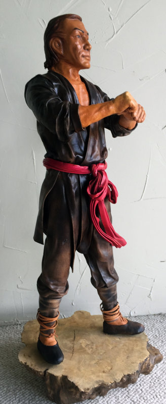 Taiwan Man Unique Leather Sculpture 24 in
