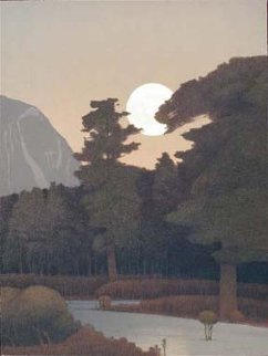Spring Moonrise in the Sangre De Cristo Mountains 2000 Limited Edition Print - Russell Chatham