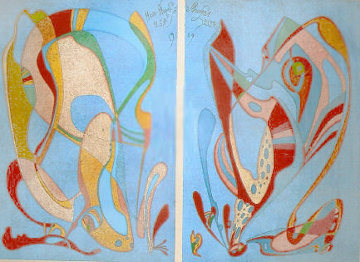 Moscow Museum Commemorative Suite Diptych  1989 Limited Edition Print - Mihail Chemiakin