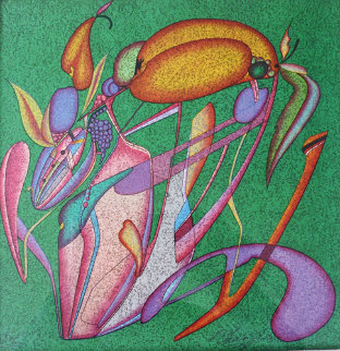Metaphysical Flowers Image III 1989 Limited Edition Print - Mihail Chemiakin
