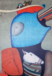 Mask With Still Life Limited Edition Print - Mihail Chemiakin