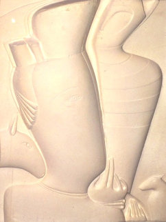 Untitled Cast Paper 1980 Limited Edition Print - Mihail Chemiakin