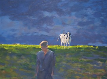 Pasture Scene 1991 Limited Edition Print - Chase Chen