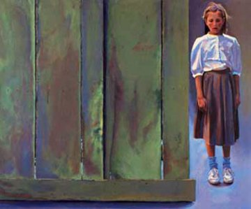 Girl By a Fence 1990 Limited Edition Print - Chase Chen