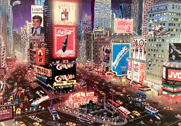 An Evening in Times Square 2001 Embellished  Limited Edition Print - Alexander Chen