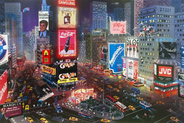 An Evening in Times Square 2001 Limited Edition Print - Alexander Chen
