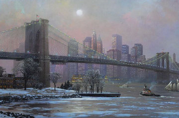 Brooklyn Bridge in Winter 2005 Limited Edition Print - Alexander Chen