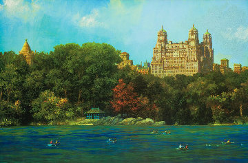Central Park Lake Fall Limited Edition Print - Alexander Chen
