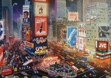 An Evening in Times Square 2013 Embellished  Limited Edition Print - Alexander Chen
