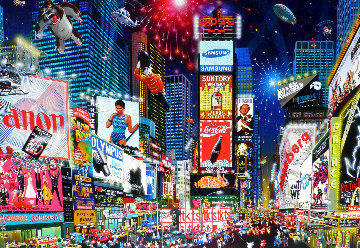 Times Square Parade 2007 Embellished Limited Edition Print - Alexander Chen