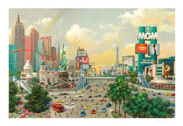 Las Vegas, The Strip 2005 Limited Edition Print - Alexander Chen