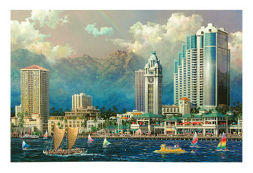 Aloha Tower (Hawaii) 2005 Limited Edition Print - Alexander Chen