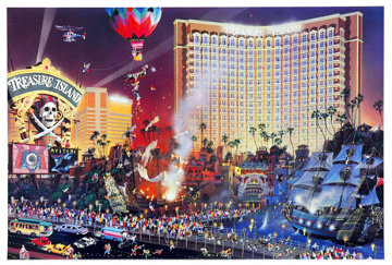 Blvd of Dreams and The Great Escape (Las Vegas) AP Limited Edition Print - Alexander Chen