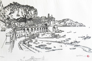 Amalfi Italy  w remarque 2008 Limited Edition Print - Alexander Chen