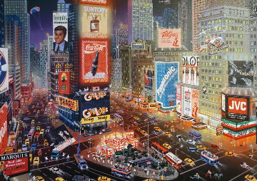 An Evening in Time Square Embellished 2013 Limited Edition Print - Alexander Chen