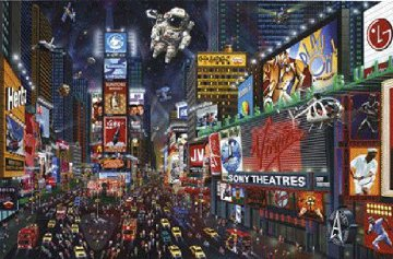 Time Square Panorama Limited Edition Print - Alexander Chen