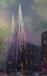 St. Patrick's Spring, New York  2005 Embellished Limited Edition Print - Alexander Chen