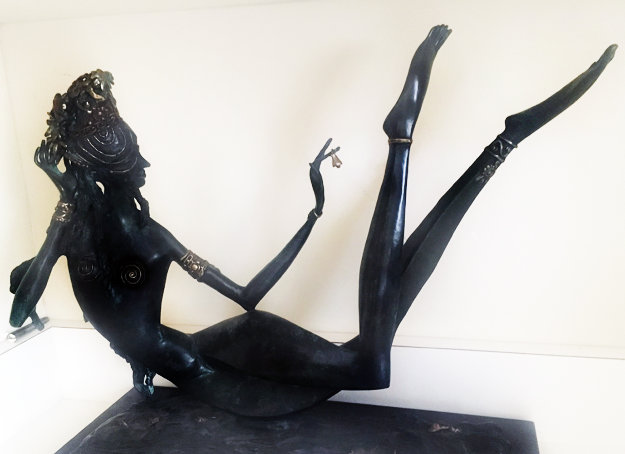 Night in the Orient Bronze Sculpture  1988 19 in