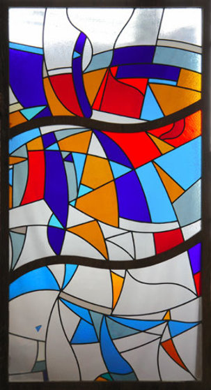 Stained Glass Window Unique 2007 70x36