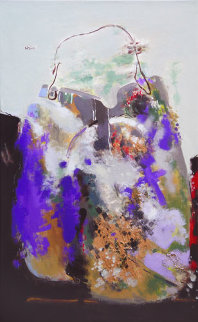Purple Bag 2008 51x32 Original Painting - Viktor Chernilevsky