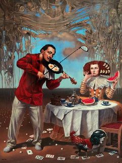 Breakfast with Humpy-dumpty 2015 Limited Edition Print - Michael Cheval