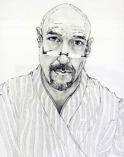 Self Portrait in Tokyo Drawing 22x19 Drawing - Charles Bragg (Chick Bragg)