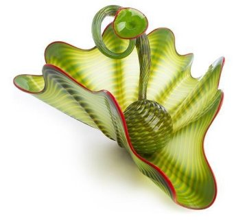 Parrot Green Unique Two-piece Unique Glass Persian Set  2001 Sculpture - Dale Chihuly