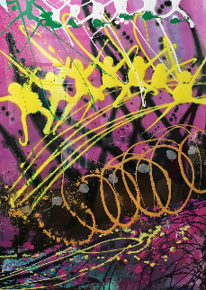 Untitled Painting 1994 64x48 Original Painting - Dale Chihuly