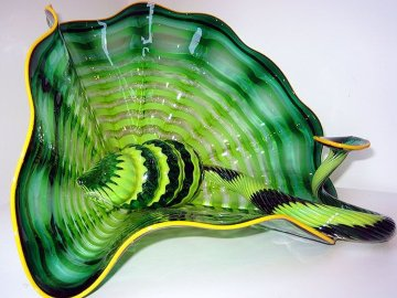 Celtic Emerald Persian Unique Pair 2001 Sculpture - Dale Chihuly
