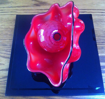 Chinese Red Seaform Unique Pair Glass Sculpture, 2 Piece Set 1995 Sculpture - Dale Chihuly