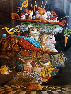 Burden of the Responsible Man 1990 Limited Edition Print - James Christensen