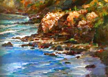 Seascape 2004 39x51 Original Painting - Lau Chun