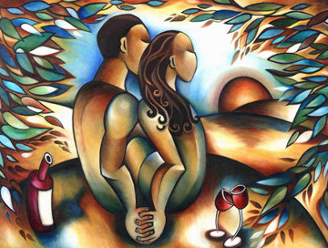 Lovers At Sunset 36x48 Limited Edition Print - Stephanie Clair