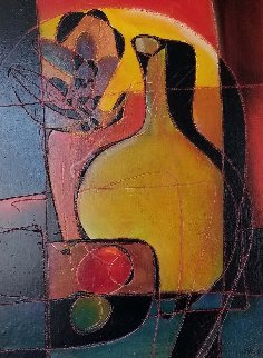 Yellow Jug 32x26 Original Painting - Jean Claude Gaugy