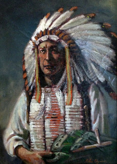 American Indian Chief 1955  Original Painting - John Clymer