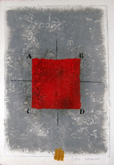 Les Positionments Rouge Limited Edition Print - James Coignard