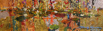 Gold And Lilies 8x24 Original Painting - James Coleman