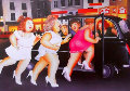 Girls in a Taxi 1980 Limited Edition Print - Beryl Cook