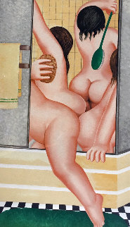 A Bathroom 1987 Limited Edition Print - Beryl Cook