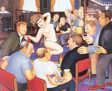 Lunchtime Refreshment 1988 Limited Edition Print - Beryl Cook