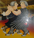 Dancing on the QE 2 1988 Limited Edition Print - Beryl Cook