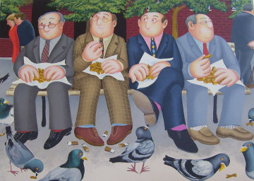 Lunch in the Garden 2002 Limited Edition Print by Beryl Cook
